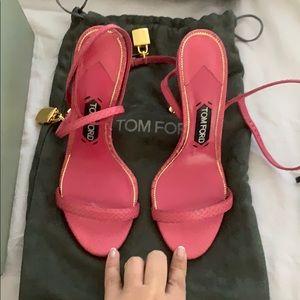 Tom ford pink snake heel